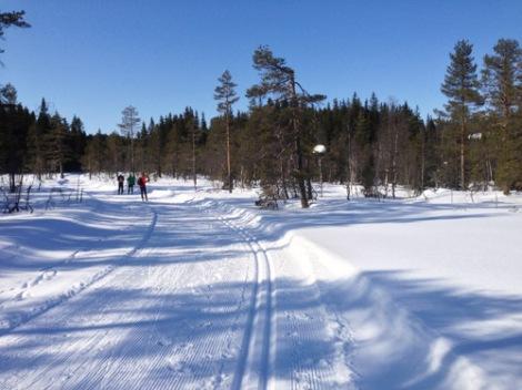 Skitur ved vannskillet Oslo-Drammen