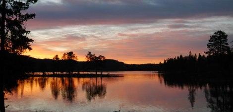 Kveldsstemning nordover vannet
