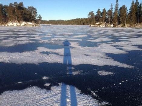 Isen på Øyangen 6 desember 2013